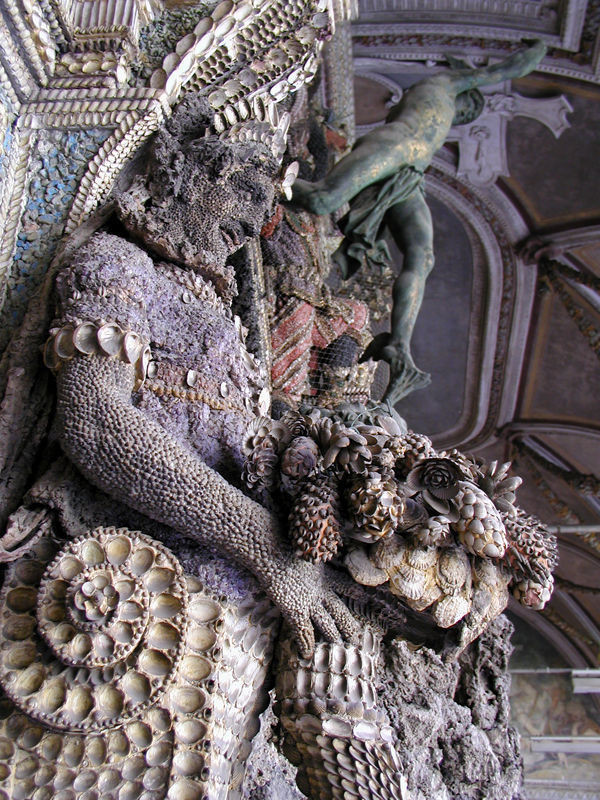 detail of the shell grotto of the Munich Residenz