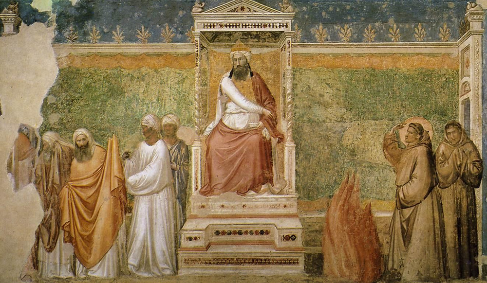 Giotto fresco in the Basilica of San Francisco