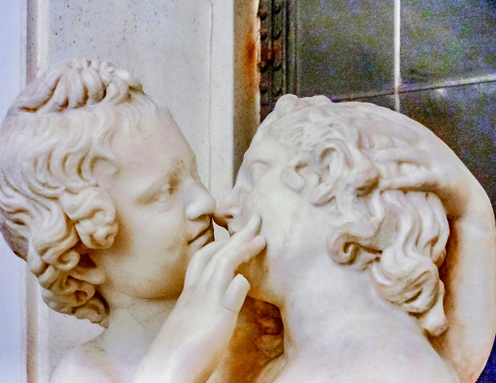 Statue of Cupid and Psyche, 2nd century, in the Capitoline Museum in Rome