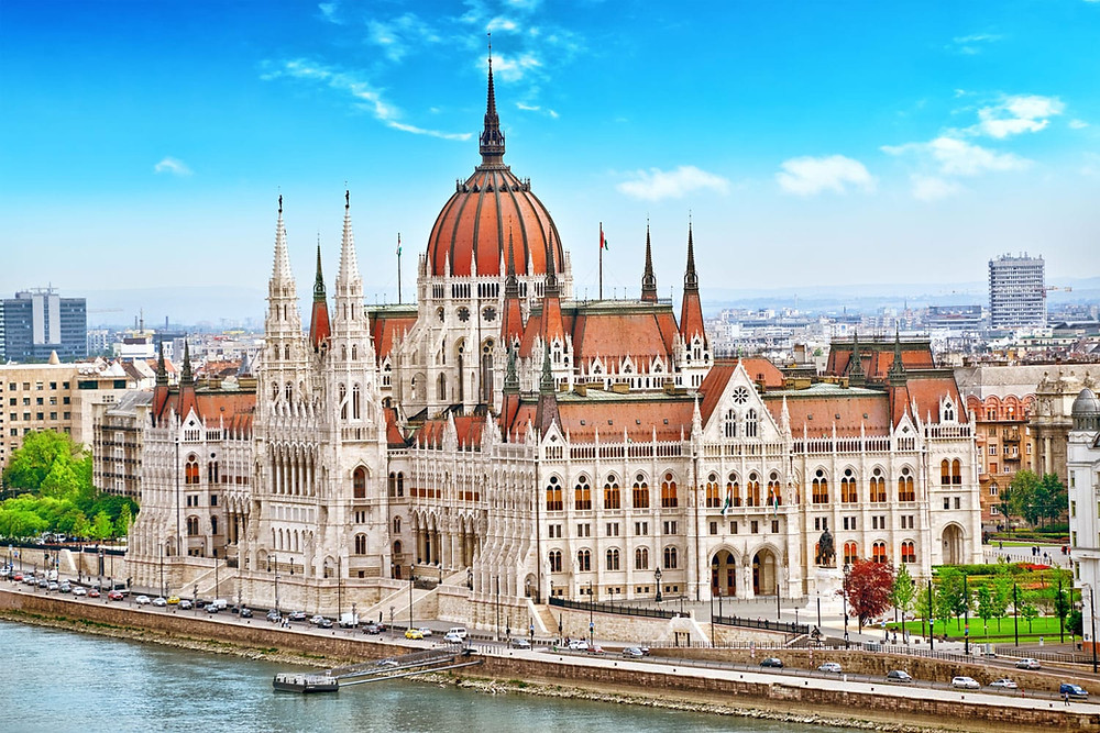 the stunning Budapest Parliament building