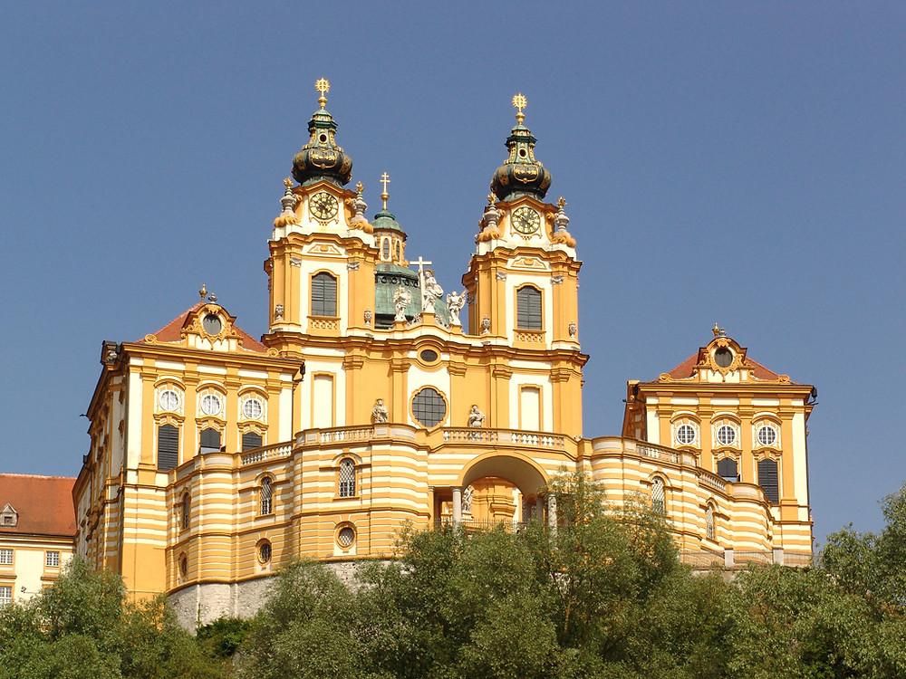 the golden UNESCO-listed Melk Abbey in Austria