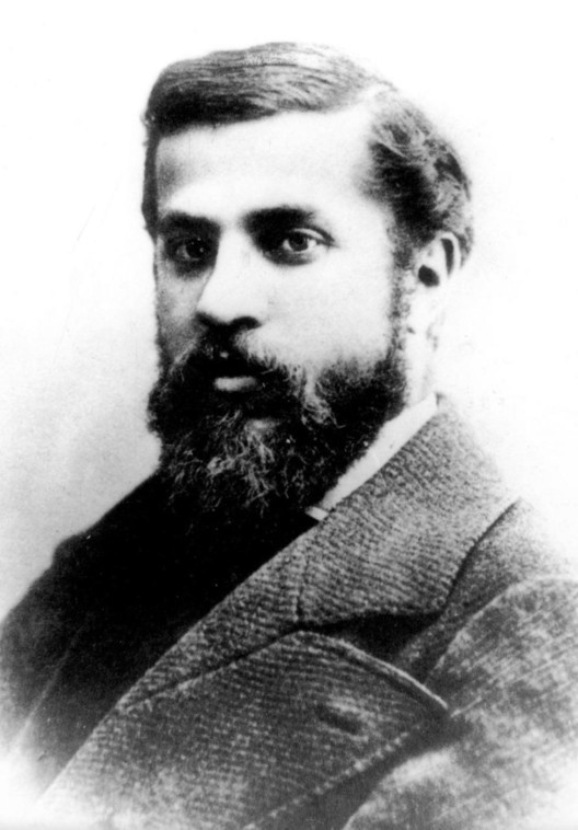 a very rare photo of a young Antoni Gaudi