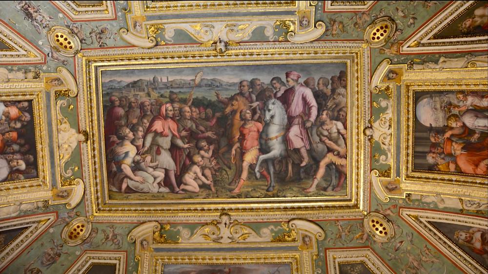 frescos in the Leo X room of the Palazzo Vecchio