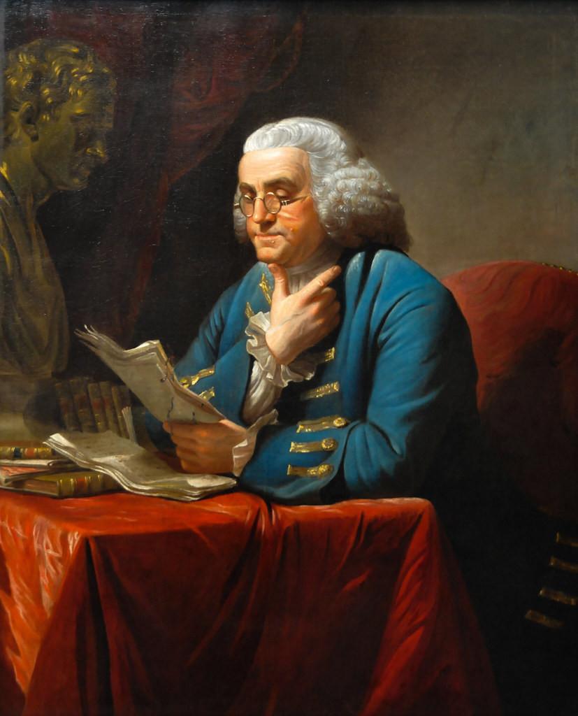 David Martin, Benjamin Franklin, 1767