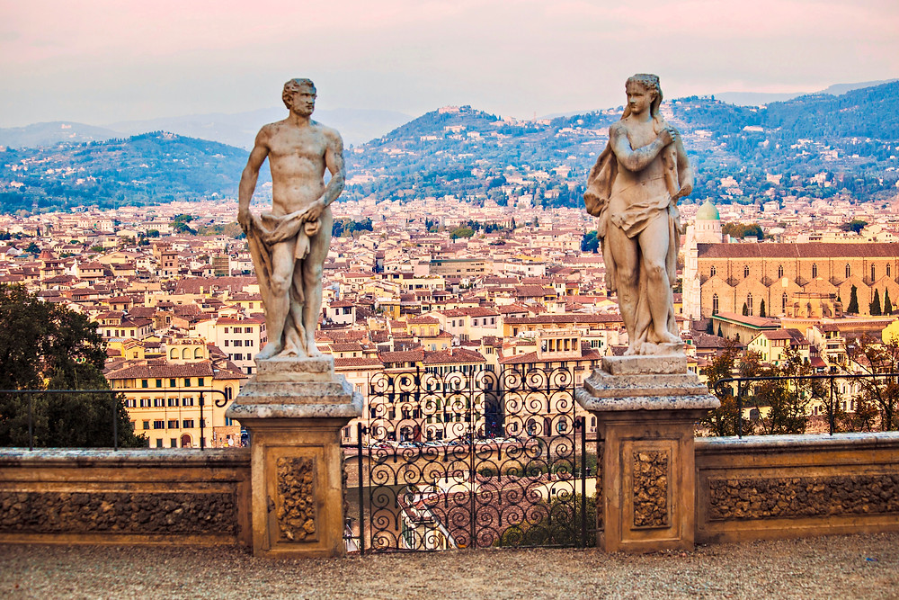 statues in the Bardini Gardens, another lovely spot in Florence
