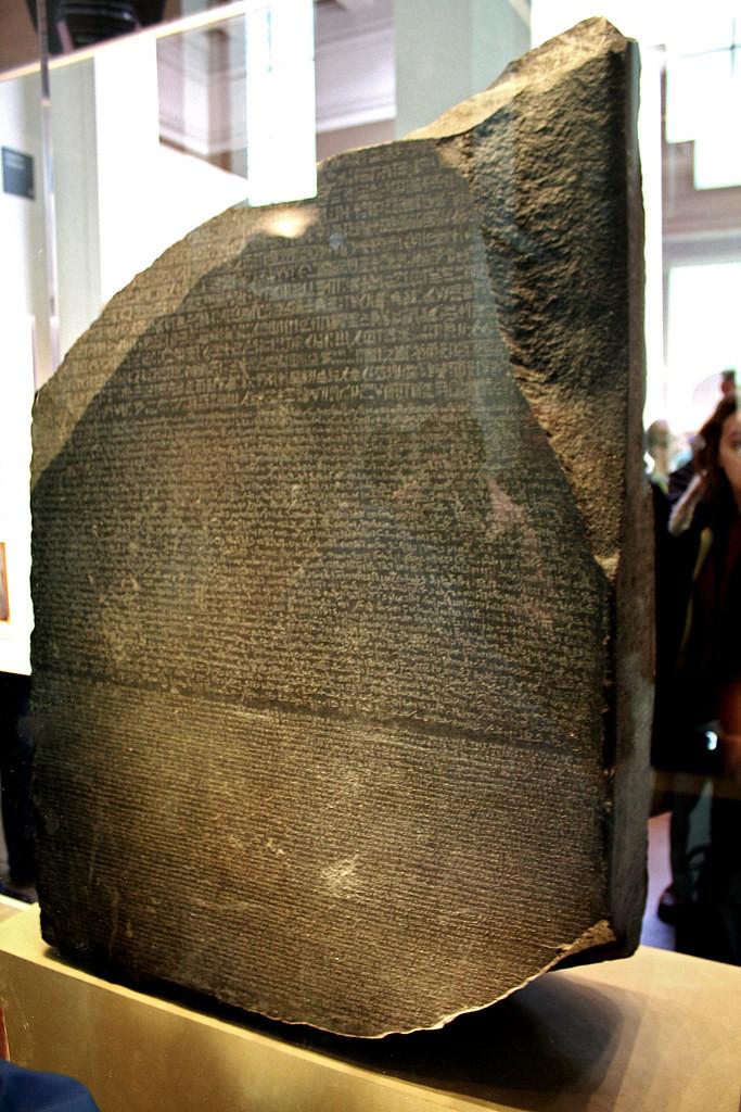 the Rosetta Stone, dating from 196 B.C.