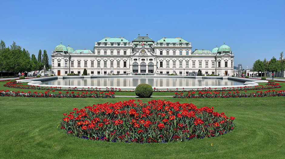 the UNESCO-listed Belvedere Palace, home to the world's largest Klimt collection