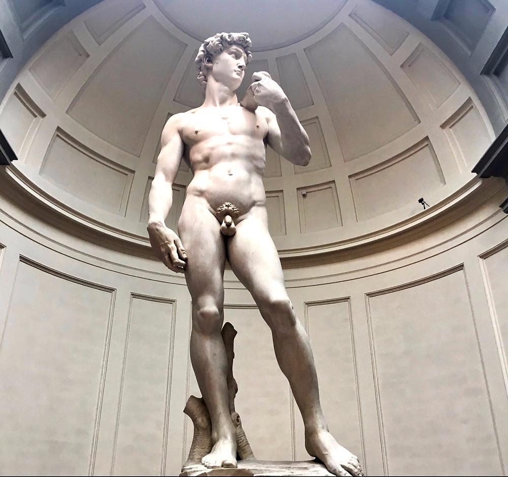 Michelangelo's David in the Galleria dell'Accademia