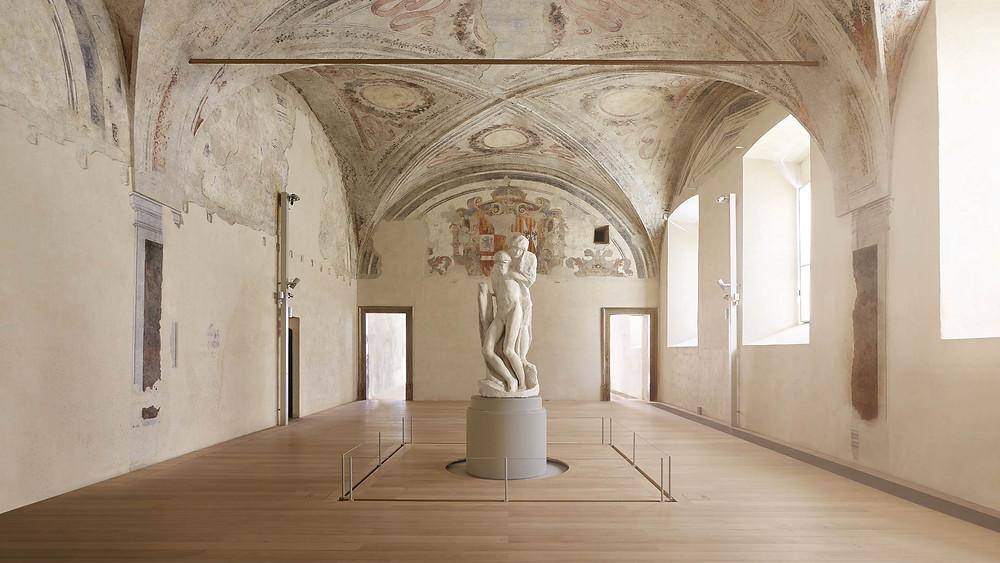 Michelangelo's Rondanini Pieta in Castle Sforza