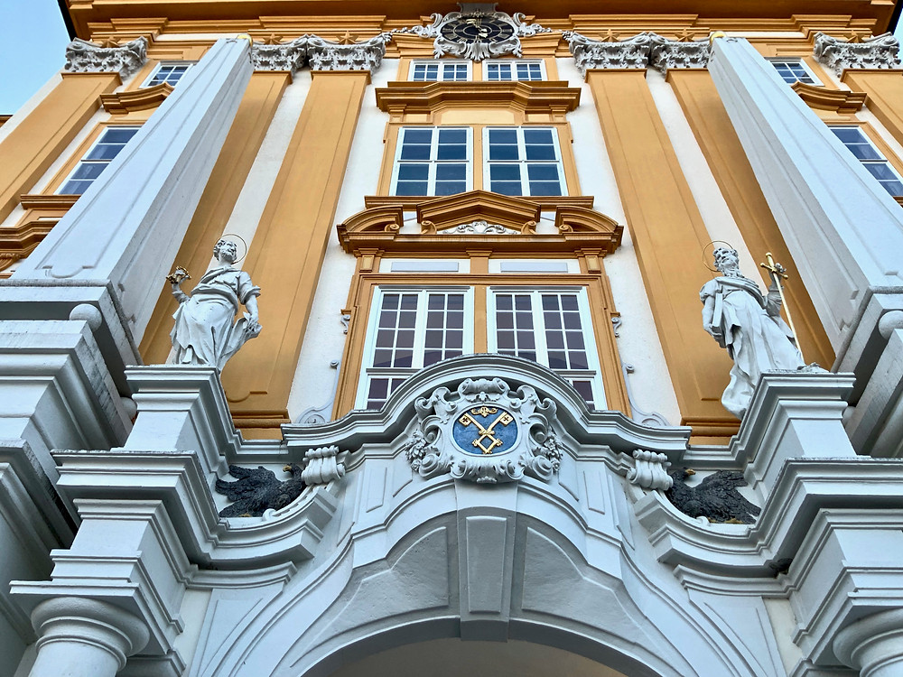 the abbot's balcony on the eastern facade of Melk Abbey