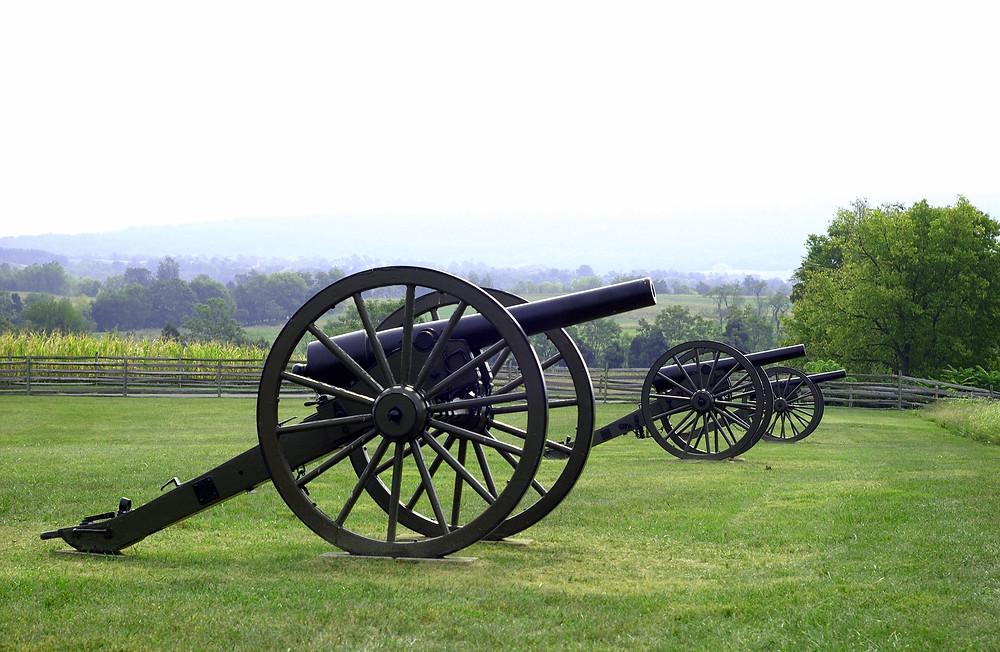 Civil War canon in Gettysburg Pennsylvania