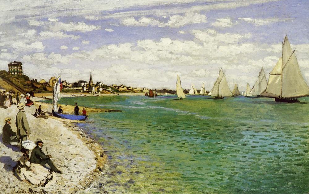 Monet, Regatta at Sainte-Adresse, 1867