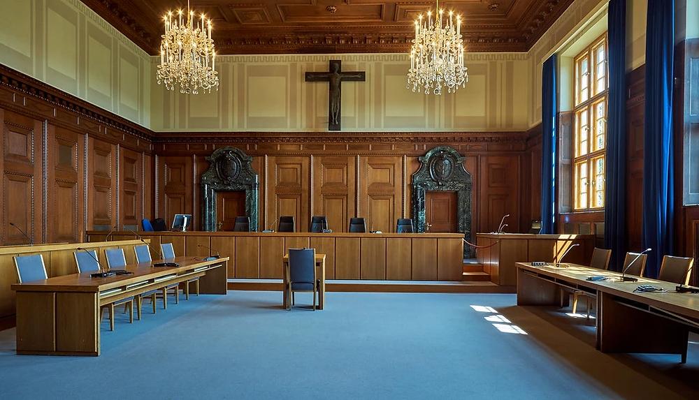 Courtoom 600 where the Nuremburg Trial were held in 1945