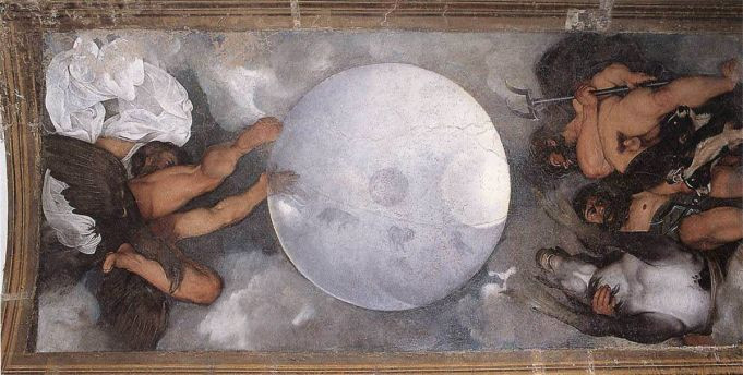 Caravaggio, Jupiter, Neptune and Pluto, 1597