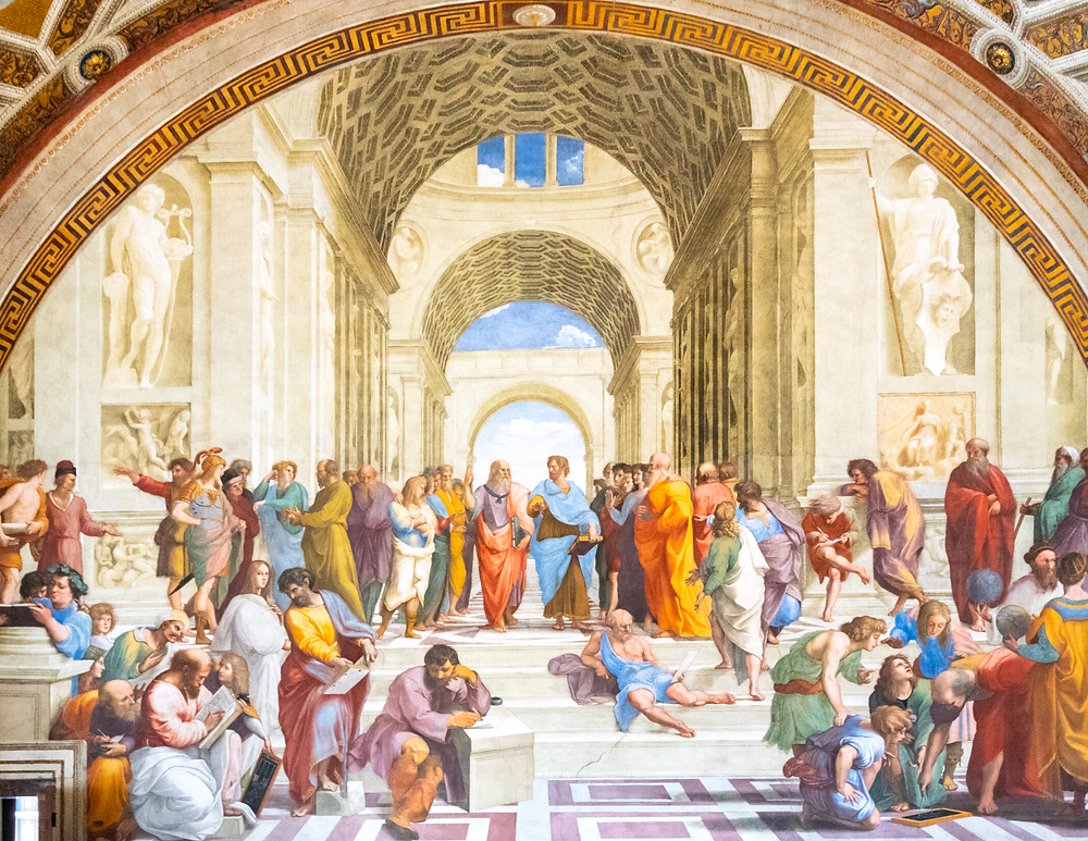 Raphael's School of Athens in the Raphael Rooms
