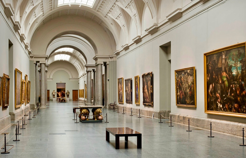 main gallery in the Prado Museum