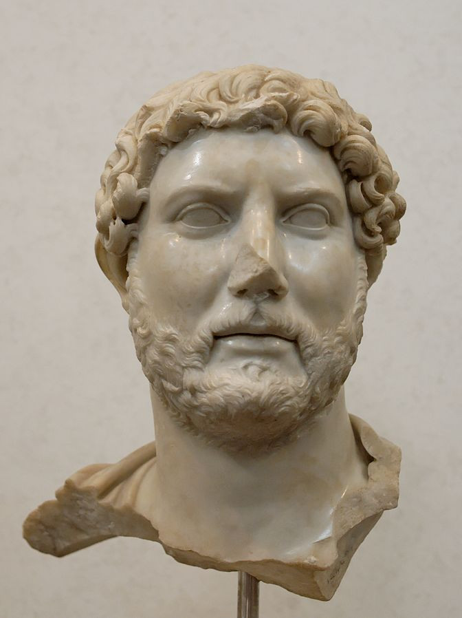 bust of Emperor Hadrian in the National Museum of Rome