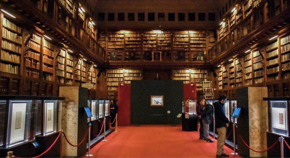 the Ambrosiana Library in Milan, housing Leonardo's Codex Atlanticus