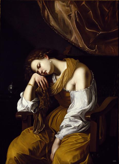 Artesimia Gentileschi, Mary Magdalen as Melancholy, circa 1622-25