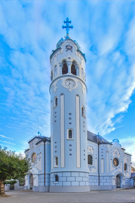 """the """"blue church"""" in Bratislava"""