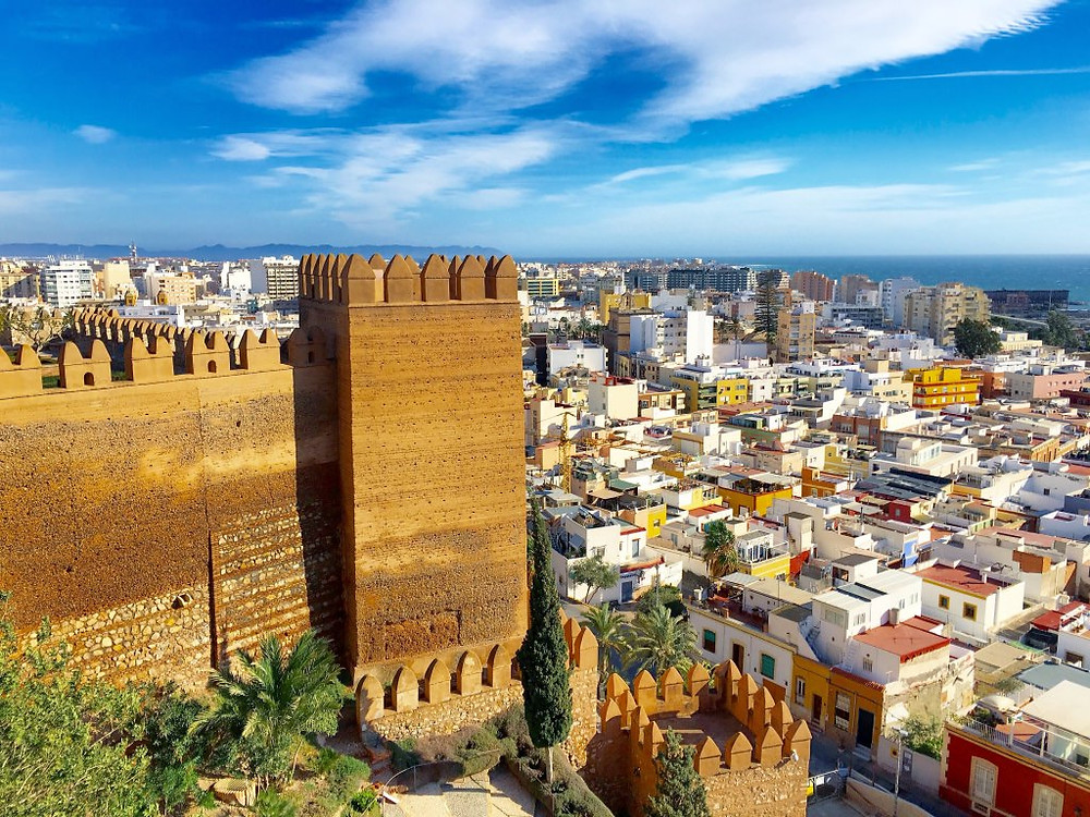 views of Almeria from the Alcazaba fortress
