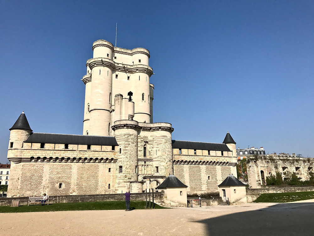 the 14th century Chateau de Vincennes, outside Paris