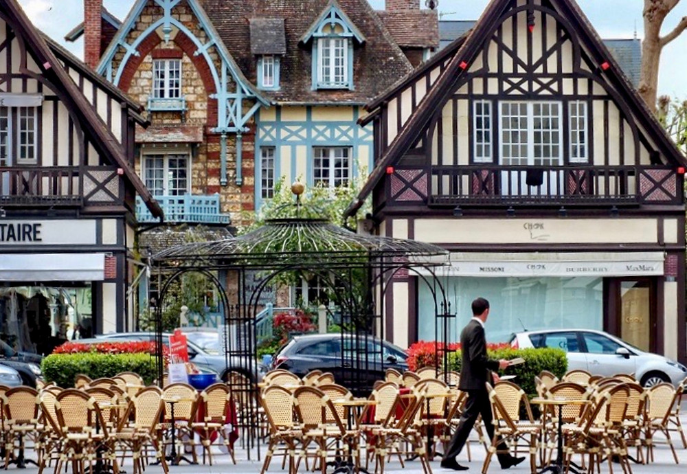 the pretty town of Deauville in northern France