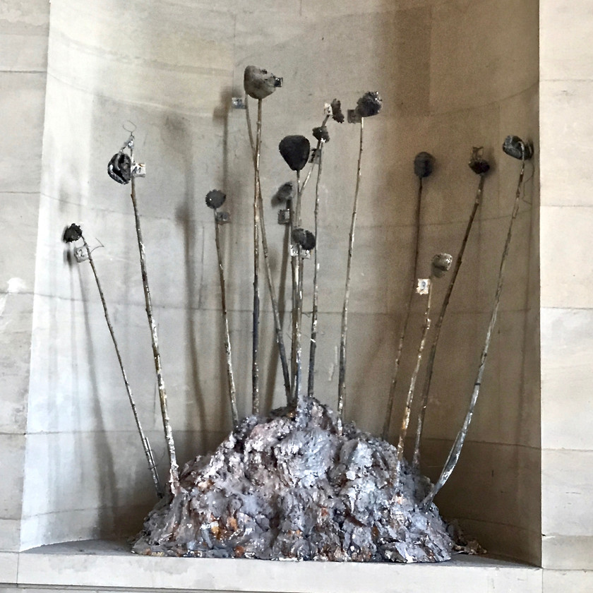 Anselm Kiefer's 1995 Hortus Conclusus scupture at the Louvre