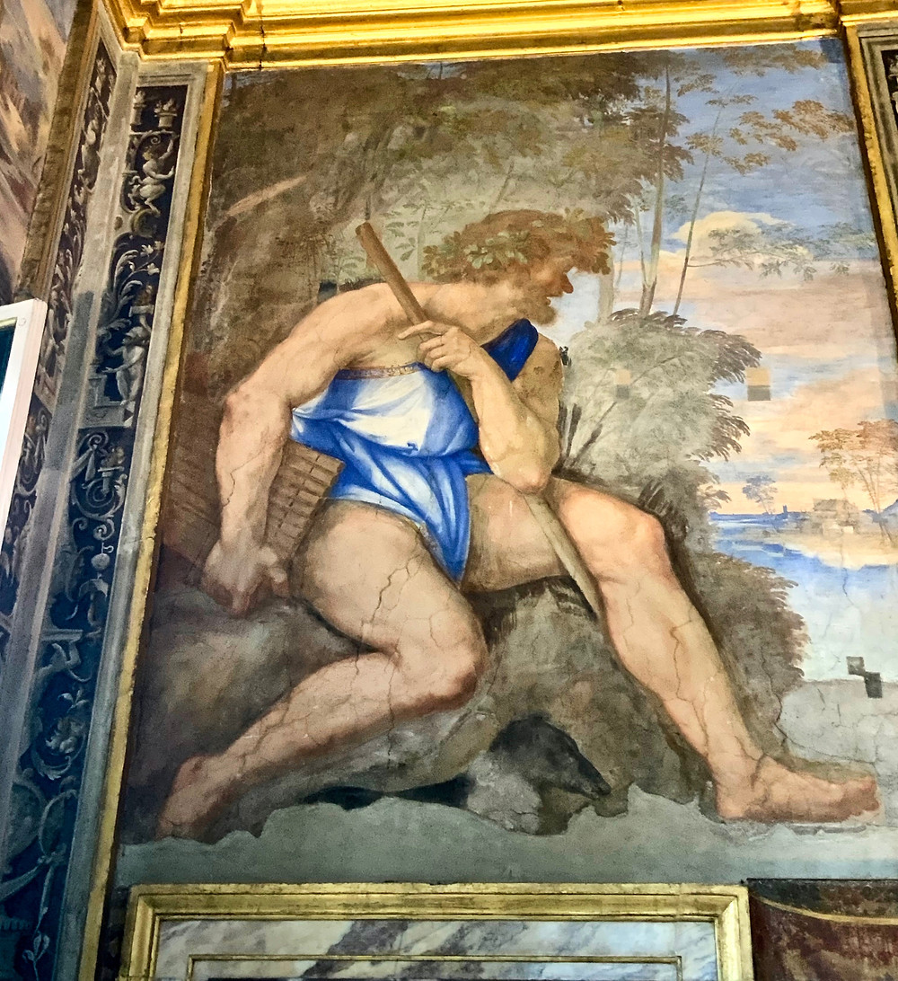 the Polyphemus fresco, in the niche to the left of Galatea