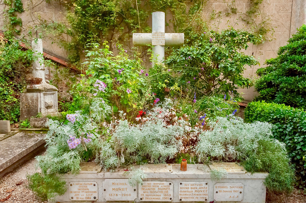 Monet's grave and family tomb in Giverny