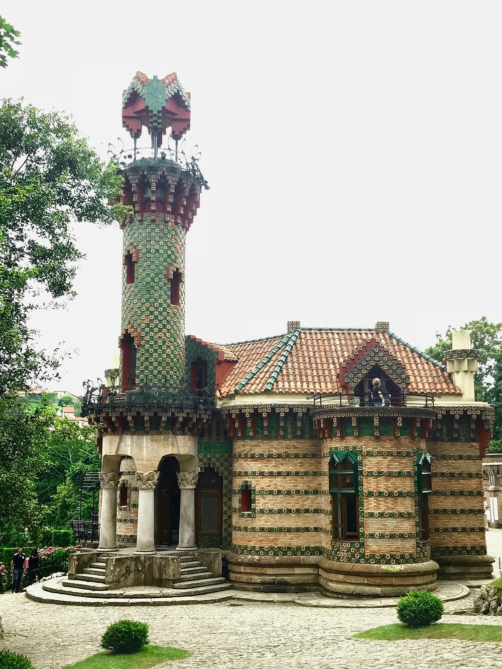 Gaudi's El Capricho in Comillas Spain, built between 1835-85