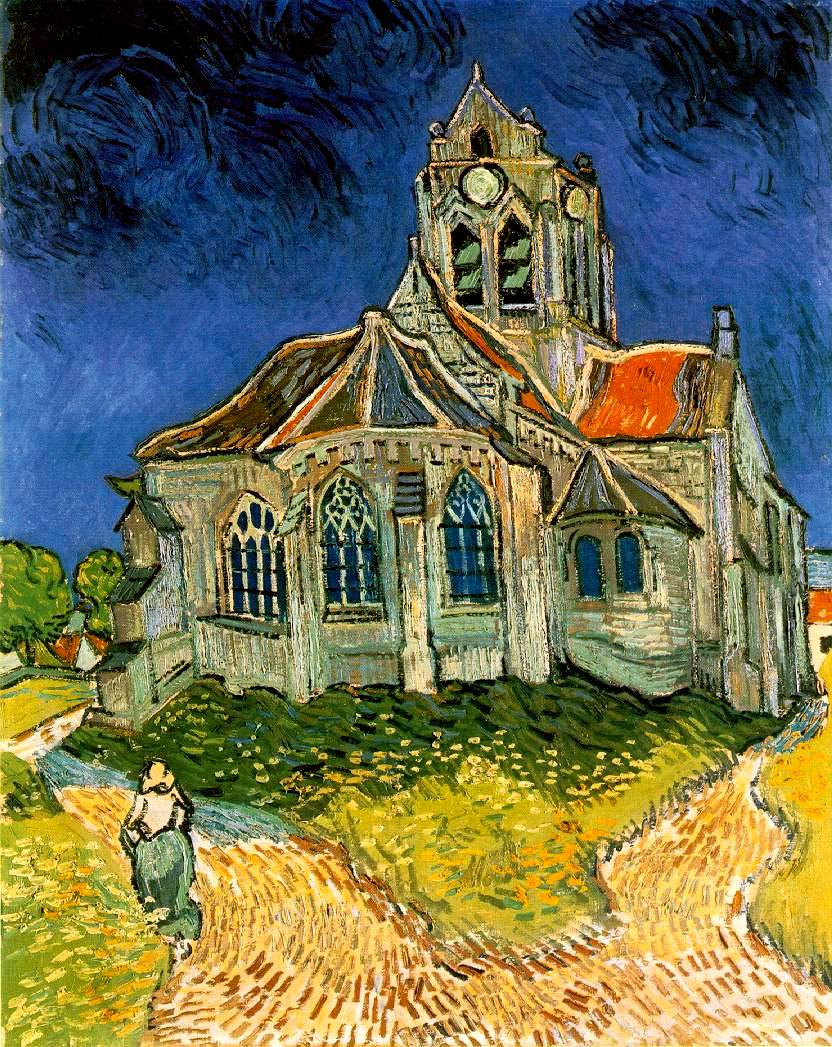 Vincent Van Gogh, The Church at Auvers, 1890