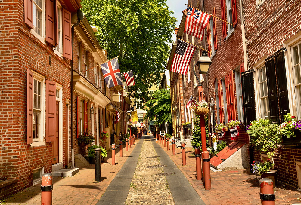 Elfreth's Alley, one of the oldest streets in the United States