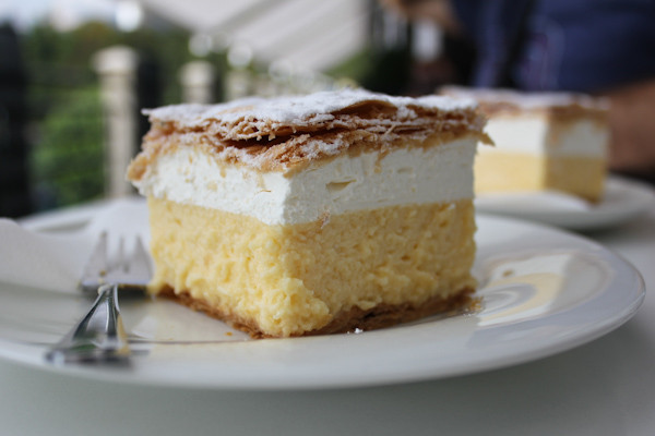the famous Lake Bled cream cake