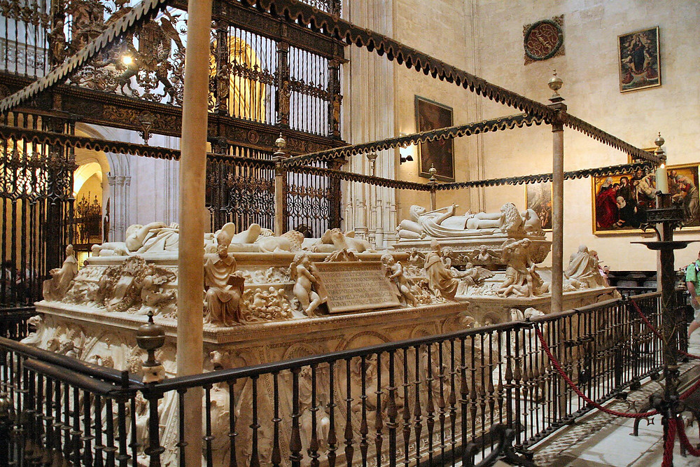 the tombs of King Ferdinand and Queen Isabella in Capilla Real