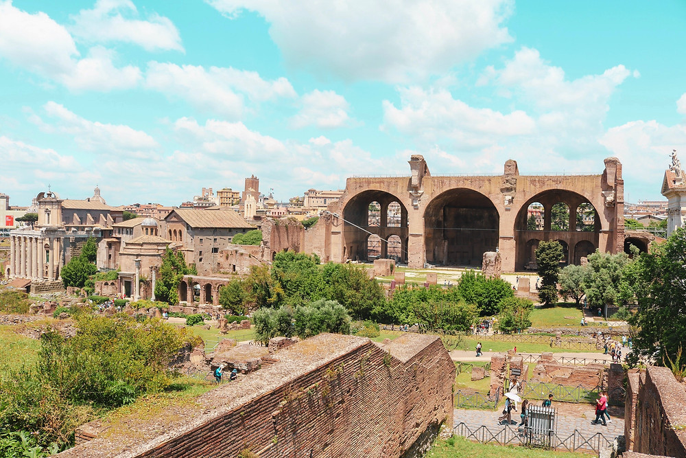 Roman Forum with the Basilica of Maxentius and Constantine