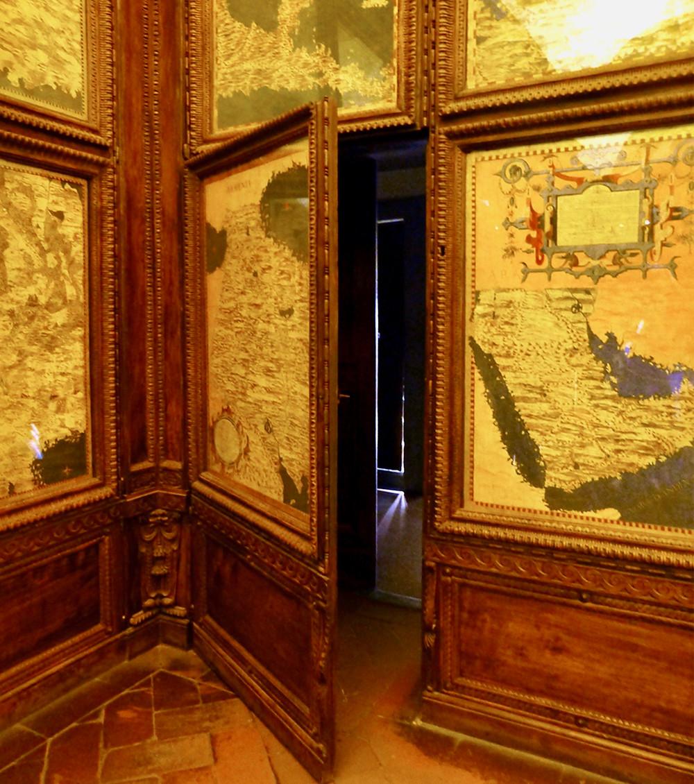 secret passageway in the Map Room