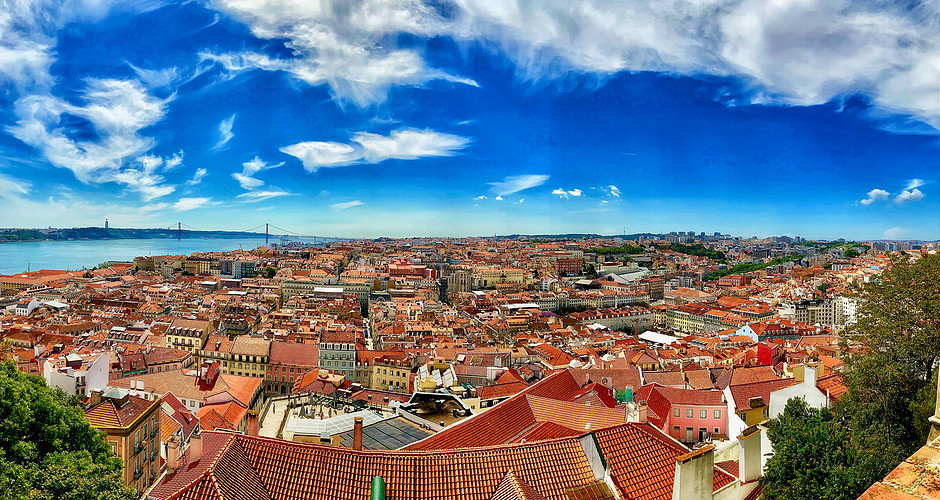 Panoramic shot from St. George's Castle. But there are other miradouros where you'll have a similar view.