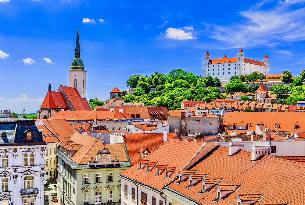 View of the Bratislava Castle and St. Martin's Cathedral