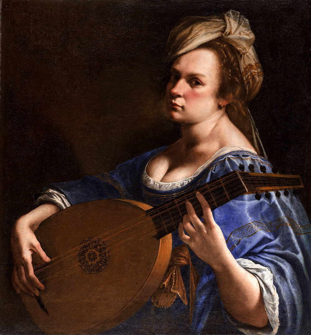 Artemisia Gentileschi, Self Portrait as a Lute Player, circa 1616-1618