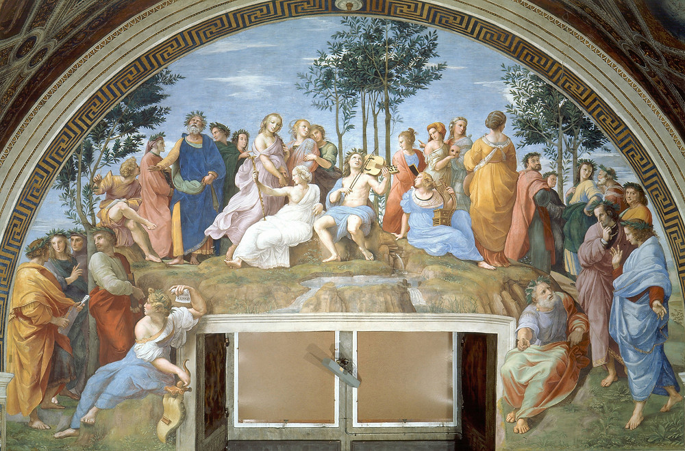 Raphael, Apollo on Mount Parnassus, 1508-11