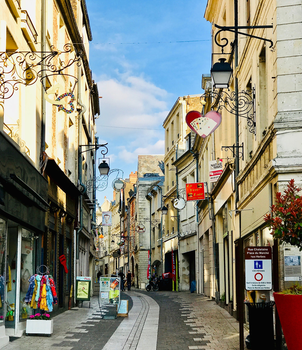 Rue Châtelain, Laon's pedestrianized main drag