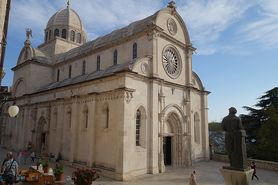 Sibenik Cathedral in Sibenik Croatia, a UNESCO-listed site