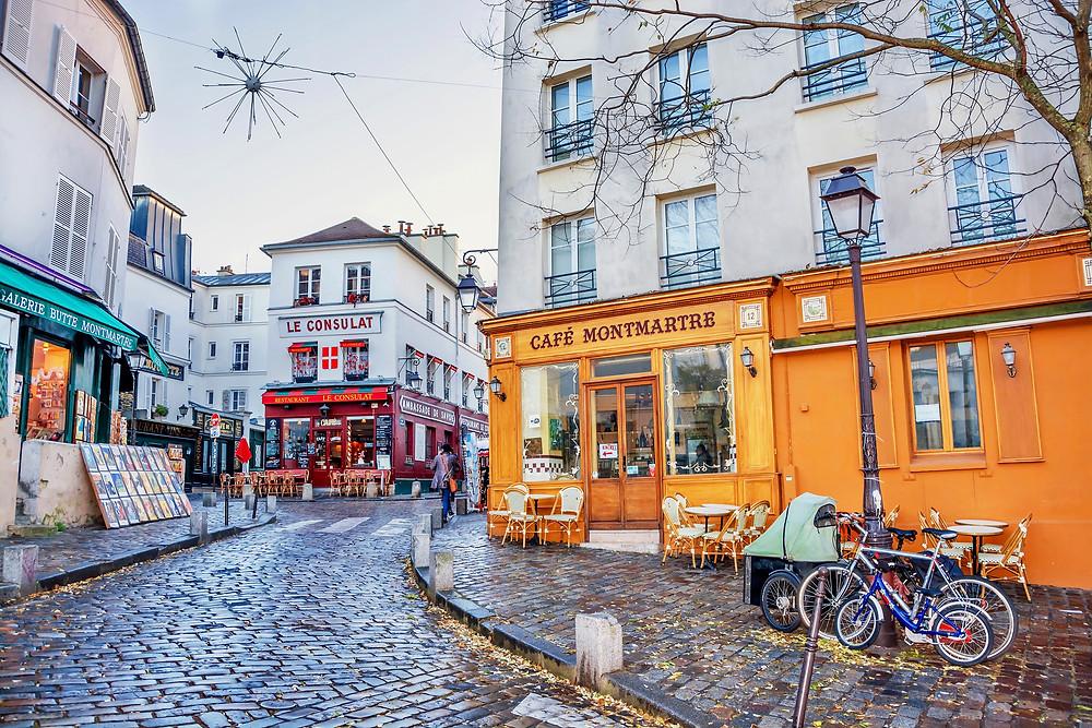 Rue Norvins in Montmartre