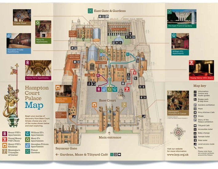 map of Hampton Court Palace