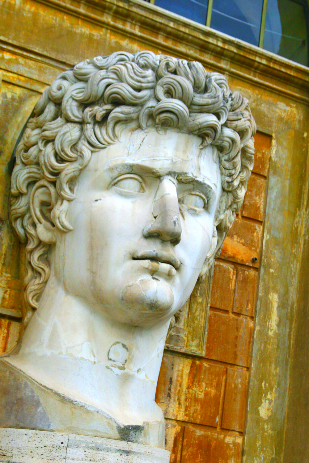 marble bust of Caesar in the Vatican Museum gardens