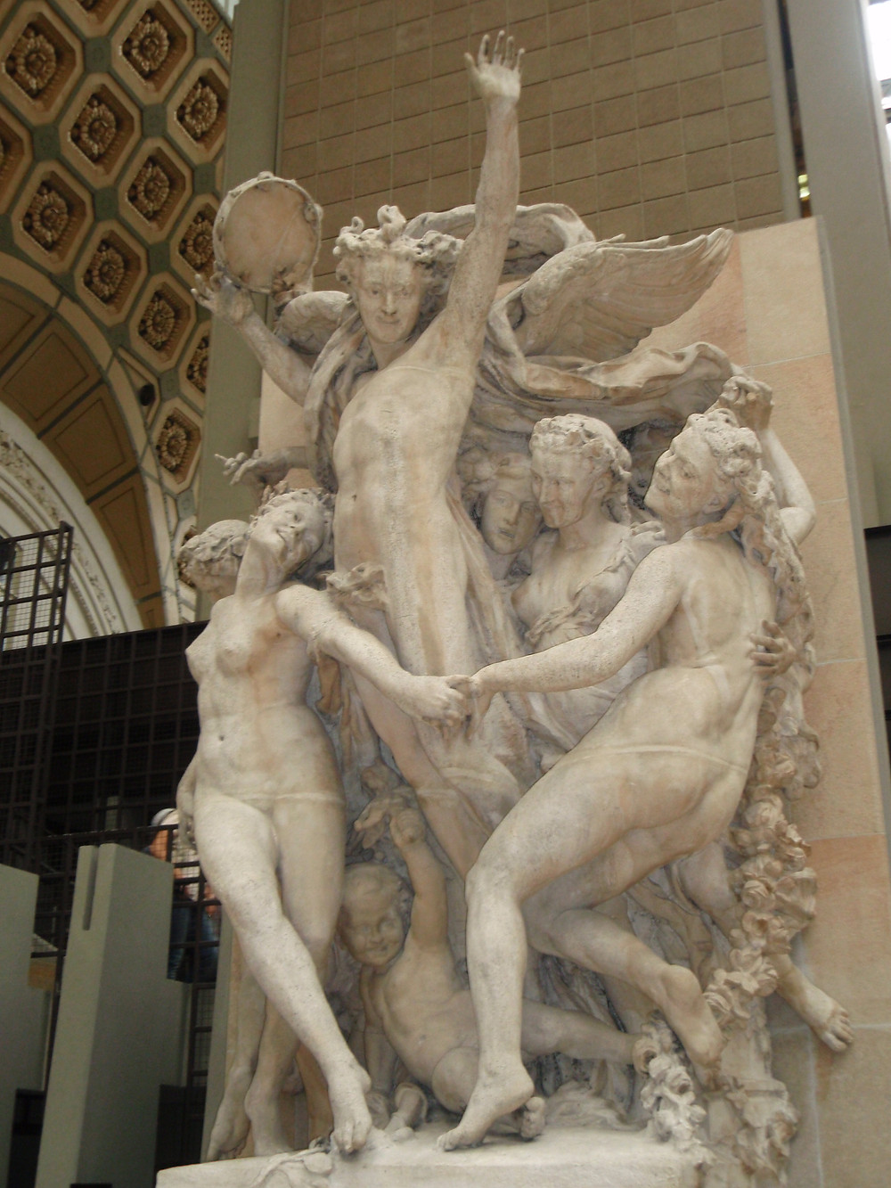 Jean-Baptiste Carpeaux's then controversial, The Dance, now in the Musee d'Orsay