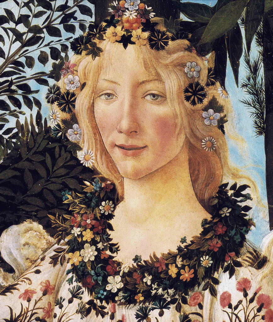 detail of Flora from Botticelli's Primavera