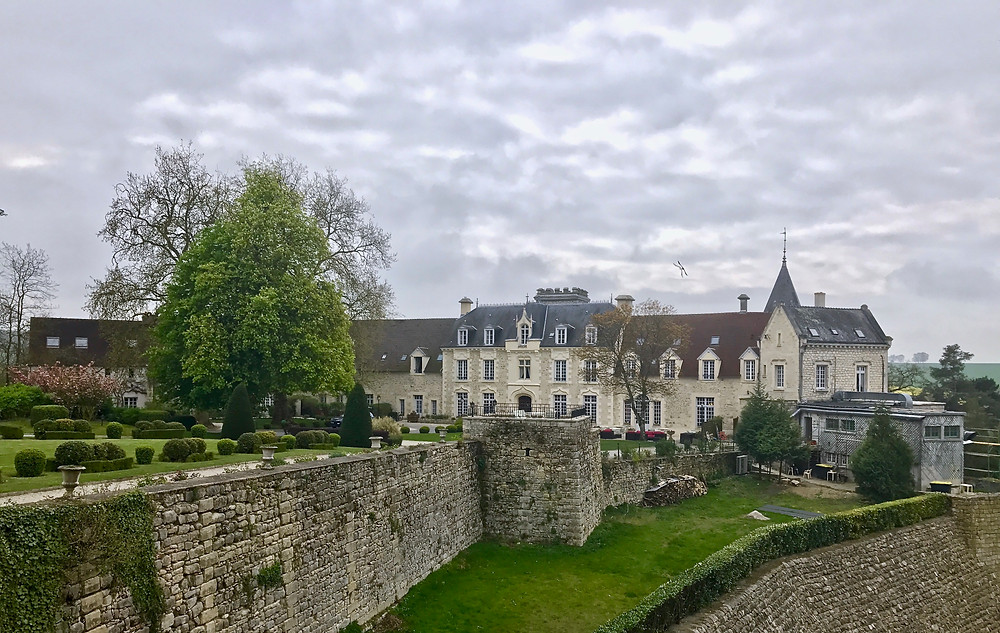The Chateau de Fere, our intended relaxing retreat, set amid medieval ruins