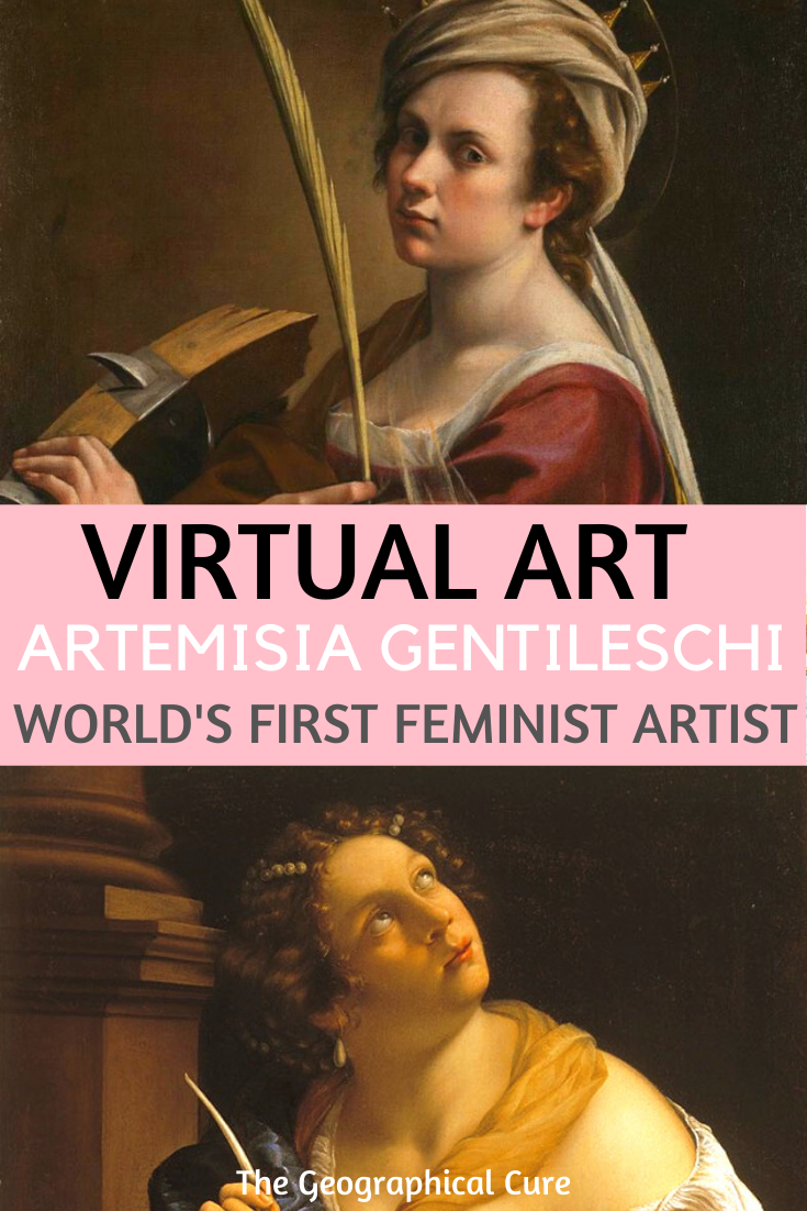 Artemisia Gentileschi, Italian Baroque painter and the world's first feminist artist
